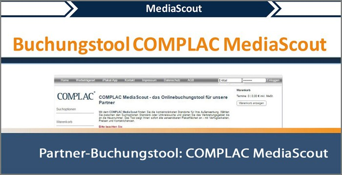 Buchungstool COMPLAC Media Scout | COMPLAC Medienservice GmbH